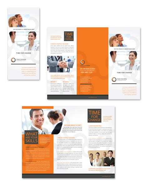 Career Counseling Tri Fold Brochure Template Counseling Brochure Templates