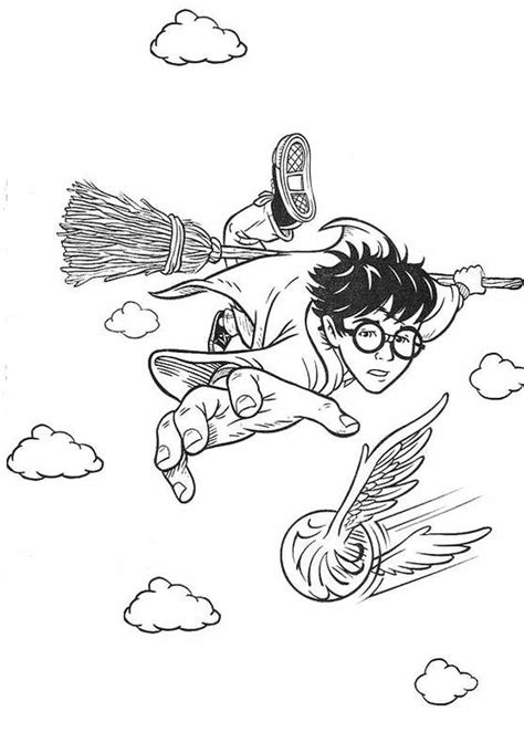 harry potter playing quidditch coloring pages disegni da colorare di harry potter