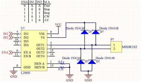 tvs diode dc motor problem with driving dc motor via l298