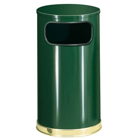 Decorative Trash Cans by Rubbermaid Fgso1610glegn 12 Gal Indoor Decorative Trash