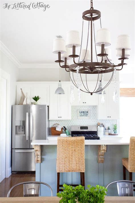 The Lettered Cottage Kitchen by The Lettered Cottage Dining Chandelier From Ballard