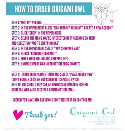 Origami Owl Order Form - 25 best ideas about origami owl office on
