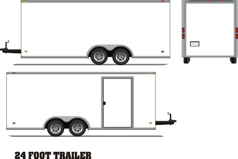 Enclosed Trailer Wrap Template Pictures To Pin On Pinterest Thepinsta Trailer Templates Free