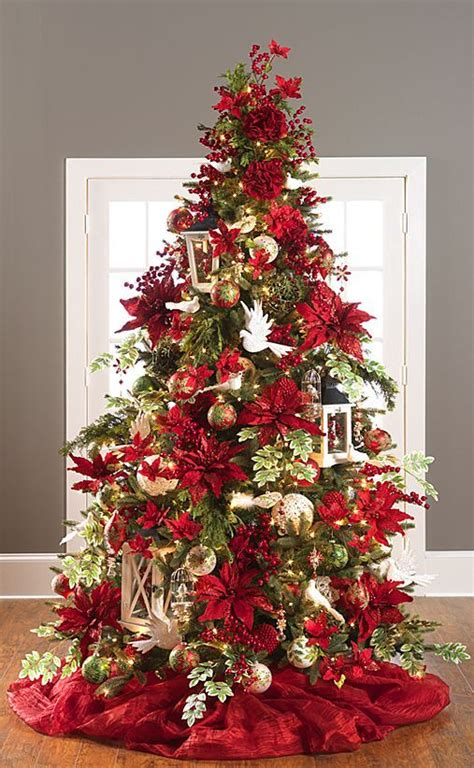 12 ft red christmas trees tree decorations ideas celebration all about