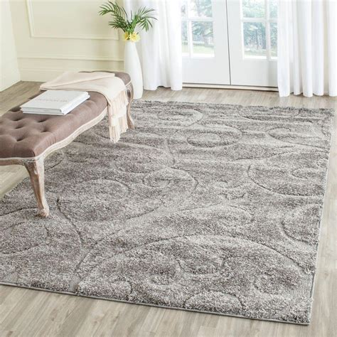 Safavieh Florida Shag Rug by Safavieh Florida Shag Gray 5 Ft 3 In X 7 Ft 6 In Area