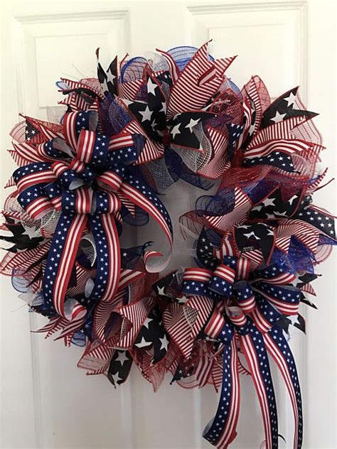best 25 patriotic wreath ideas on pinterest 4th of july