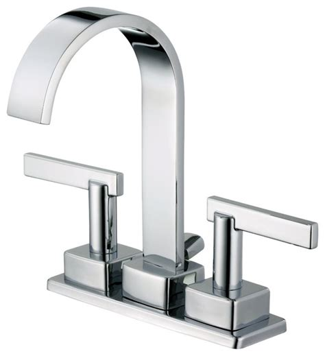 Houzz Modern Bathroom Faucets Foret Bfl450cp Centerset Two Handle Lavatory