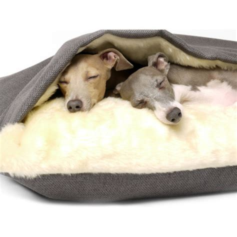 dog snuggle bed charley chau luxury weave slate snuggle dog bed medium