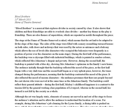 Blood Essay by Blood Brothers Essay Help 187 Tudor Dimofte Phd Thesis