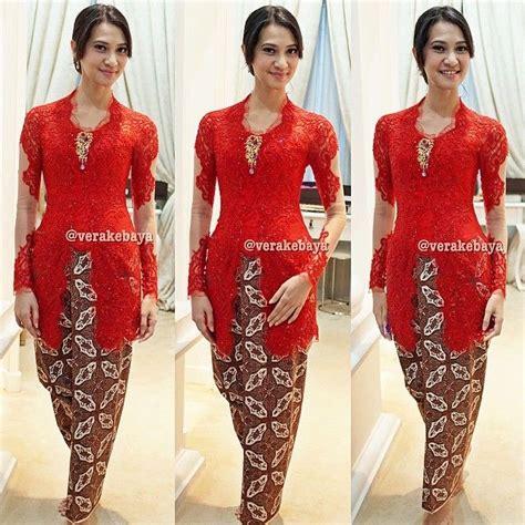 Kain Brokat Brukat Korneli Warna Merah 30 model vera kebaya untuk acara wisuda simpel dan elegan terbaru