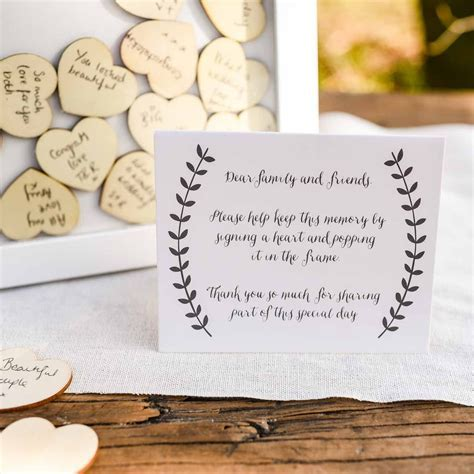 Wooden Heart Drop Top Wedding Guest Book ? The Wedding of