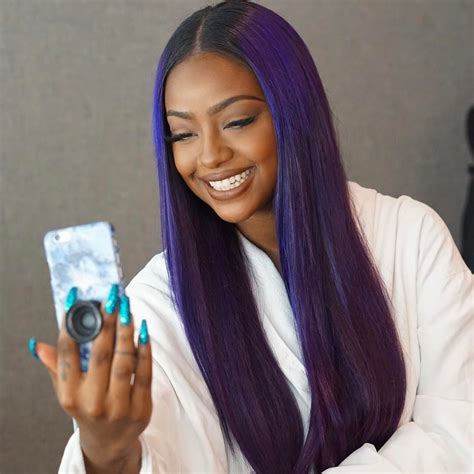black hairstyles weave on for summerblack and purple the purple unicorn justineskye on instagram every