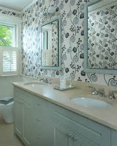 Bathroom Wallpaper Ideas What Are The Wallpaper Can Be Glued To The Bathroom Walls
