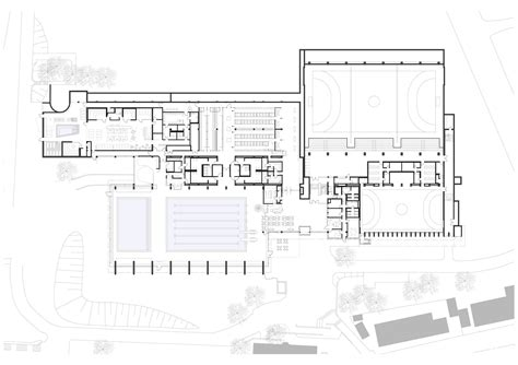 Swimming Pool House Plans gallery of sports centre in leonberg 4a architekten 18
