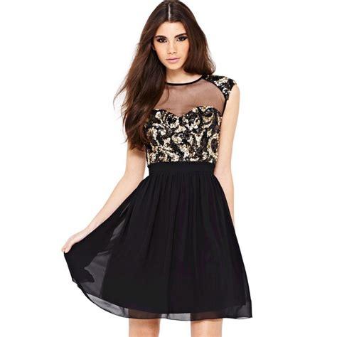 vestidos cortos con vuelo hermoso vestido elegante de lentejuelas de gasa con vuelo