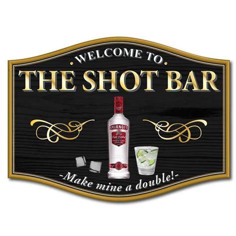 Home Bar Signs Jaf Graphics Vodka Home Bar Sign Make Mine A