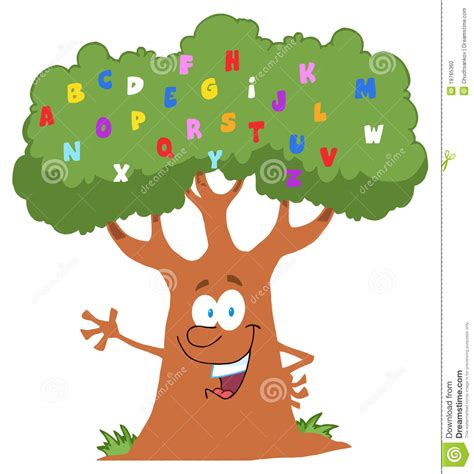 friendly alphabet tree waving stock photo image 19765360