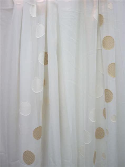 stores gardinen stores gardinen stoff vorhang sherley kreise wei 223 beige