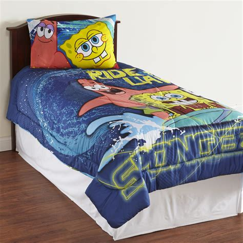 Spongebob Crib Bedding by Nickelodeon Boy S Microfiber Comforter Spongebob Squarepants