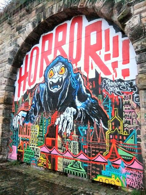 photographs  newcastle gateshead comusica graffiti wall