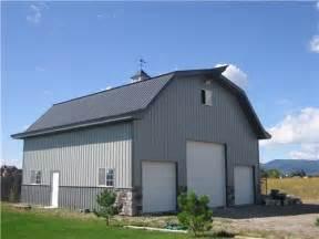 Gambrel Barn Homes mid size shop buildings steel buildings metal pole