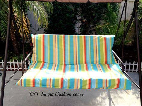 DIY Easy Outdoor Swing Cushion Cover   WithHeartandVerve