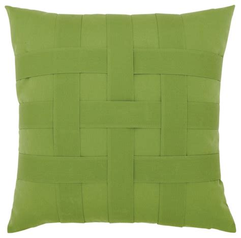 elaine smith basketweave ginkgo pillow modern outdoor