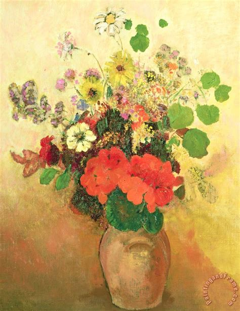 Vase Of Flowers Paintings by Odilon Redon Vase Of Flowers Painting Vase Of Flowers