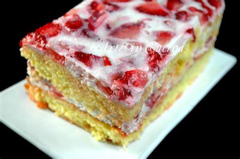 come cucinare le fragole torta alle fragole ricetta dolce facile arte in cucina