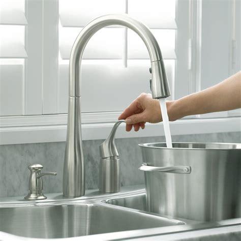 kohler   bl simplice single hole pull  kitchen faucet matte black touch  kitchen