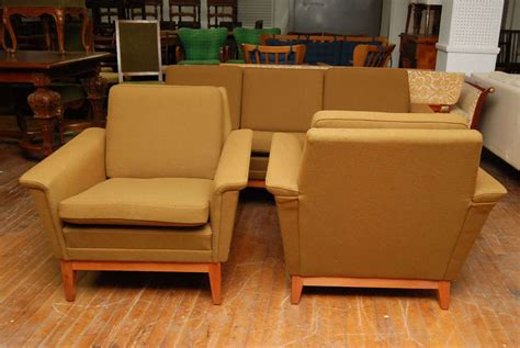 green sofa set modern olive green sofa set at 1stdibs