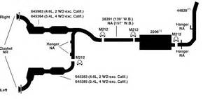 Ford Exhaust System Diagram Ford F250 Exhaust Diagram From Best Value Auto Parts