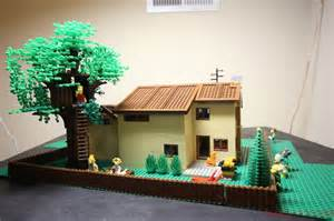 lego simpsons haus moc simpsons backyard bart s tree house marge s car