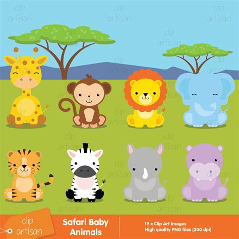safari clipart baby safari animals clipart 60