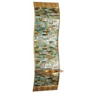 mosaic candle sconces mosaic wave pillar candle holder wall sconce pier 1 imports