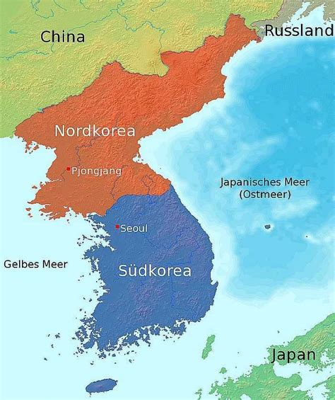 Karet Korea by Karte Korea Nord Und S 252 D