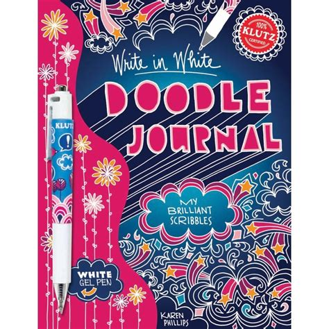 doodle journal my in scribbles write in white doodle journal my brilliant scribbles