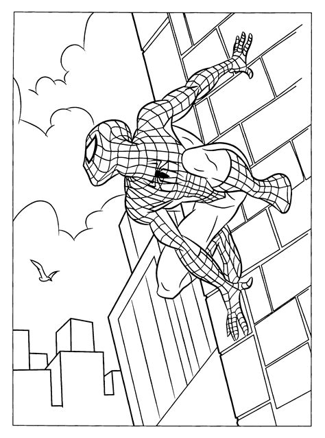 spiderman coloring page free printable spiderman coloring pages for kids