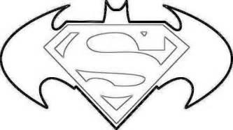 Batman Logo Coloring Pages Free Download Superman  sketch template