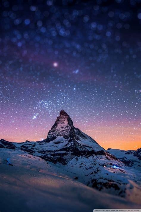 mountain  night  hd desktop wallpaper   ultra hd