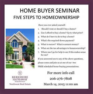 berkshire hathaway holding free home buying seminar this