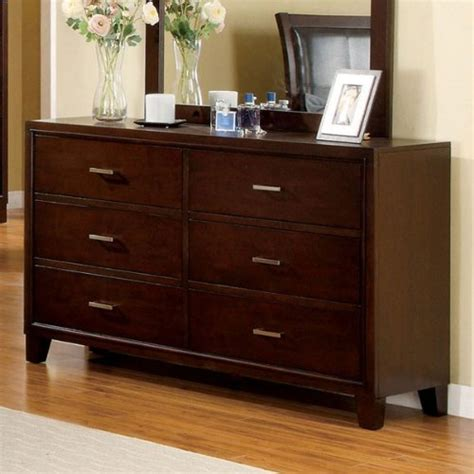 solid wood bedroom dressers enrico solid wood brown cherry finish bedroom dresser