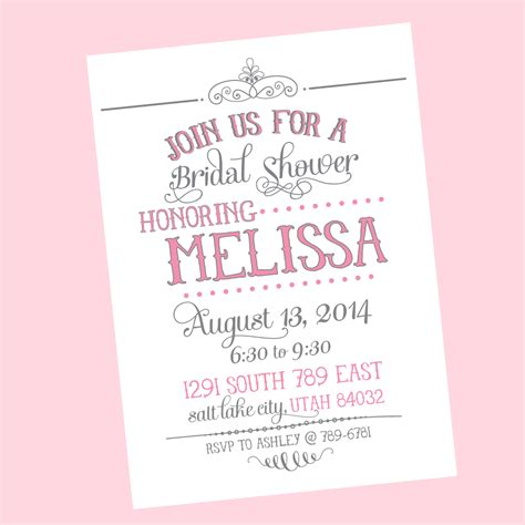 free bridal shower invitations printables free printable wedding shower invitations templates