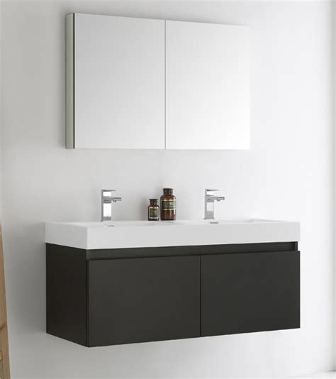 48 inch black bathroom vanity fresca mezzo 48 inch black wall mounted double bathroom vanity