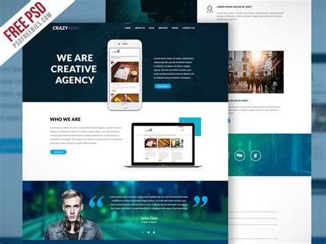 creative agency template creative digital agency website template free psd