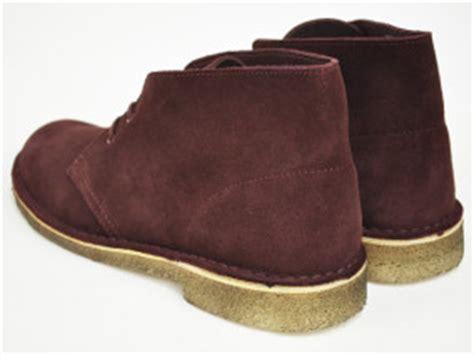 clarks desert boot burgundy suede highsnobiety
