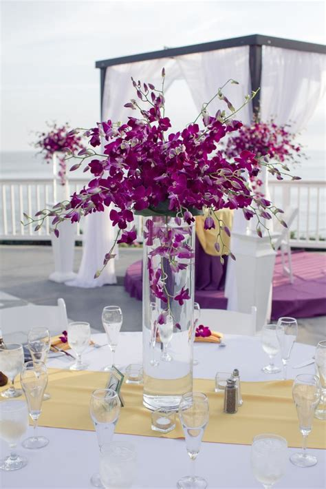 Tall Purple Orchid Centerpieces Purple Orchid Wedding Centerpieces