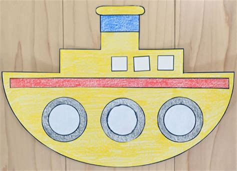 how to make a paper canal boat tugboat paper craft