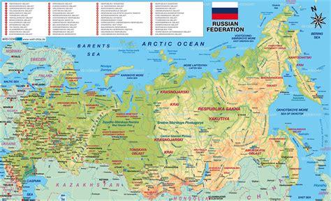 russia map atlas russland