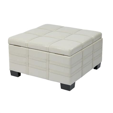 Leather Storage Ottoman With Tray Eco Leather Storage Ottoman With Tray In Dtr3030s Cmbd